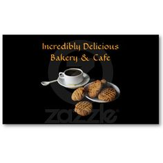 Bakery and Cafe Business Cards