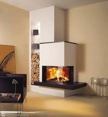 Kachelofen modern Foyer and Entryway Ideas Kachelofen Modern Home Fireplace, Modern Fireplace, Living Room With Fireplace, Fireplace Design, Living Rooms, Japanese Home Decor, Foyer Decorating, Wood Burner, Home Fashion