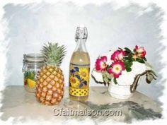 Kéfir fait maison à l'ananas.