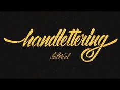 """12 Awesome Hand Lettering Tutorial Videos for Beginners 