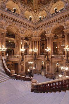 Opera Paris - Beste Just Luxus Architecture Baroque, Beautiful Architecture, Beautiful Buildings, Interior Architecture, Beautiful Places, Ancient Architecture, Hagia Sophia, Paris Hotels, Inspired Homes