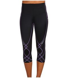 CW-X Stabilyx 3/4 Tight Black/Lavendar - awesome compression tights for knee - hip - IT band stability.