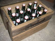 Thinking about making a couple of these crates and putting all the glass bottles I have laying around and sell them for more liqueur.
