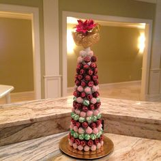 Truffle Tree my sister made for my Christmas Party...Took me hours to complete all the baking and decorating, but when it finally came together I was amazed! Love the way it turned out!