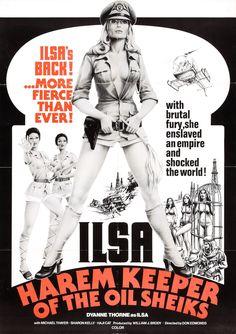 ILSA HAREM KEEPER OF THE OIL SHEIKS   sexploitation torture bmovies film poster