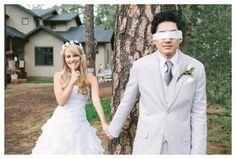 First Look Ideas - Blindfold Groom - Scottsdale Wedding Photographer | Rachel Solomon Photography