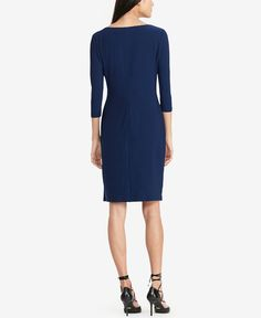 Lauren Ralph Lauren Jersey Sheath Dress - Dresses - Women - Macy's