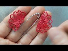 Hairpin Lace, Ribbon Work, Hair Pins, Tatting, Embroidery Designs, Make It Yourself, Creative, Youtube, Jewelry