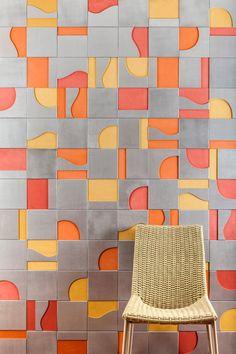 Surface designer Renata Rubim partnered with Oca Brasil  : Modernist wooden…