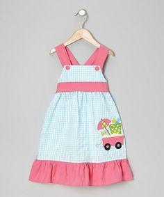 Aqua & Red Beach Wagon Seersucker Dress - Infant, Toddler & Girls #zulily #zulilyfinds