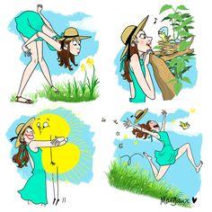 Illustration Art Dessin, Funny Illustration, Illustrations, Caricatures, Art Optical, Art Background, French Art, Artist Art, Funny Comics