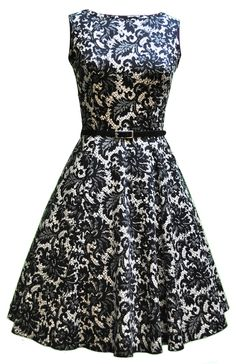 Glamorous Black Tea Dress