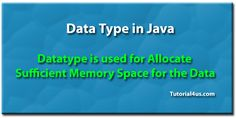 Data Type in Java