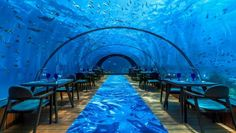 The underwater Hurawalhi Island Resort restaurant in the Maldives was built by Fitzroy engineering in New Plymouth.