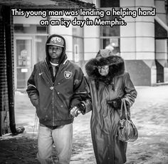 Lending a helping hand on an icy day...