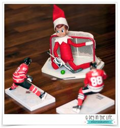 Who knew that our Elf on the Shelf was a goalie!? #ElfontheShelf