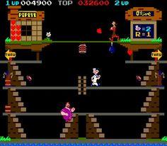Classic Popeye Arcade Game.
