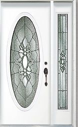 painting an oval stained glass front door bright red really