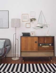 Sneak Peek: Travis and Maike McNeill of welovepictures – Design*Sponge Style At Home, Retro Furniture, Furniture Design, Small Furniture, Rustic Furniture, Room Inspiration, Interior Inspiration, Living Spaces, Living Room
