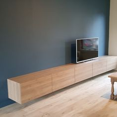 Office Interior Design, Home And Living, Home Living Room, Open Plan Kitchen Living Room, Bedroom Bed Design, Living Room Tv, Apartment Design, Kitchen Remodel Layout, Built In Tv Cabinet