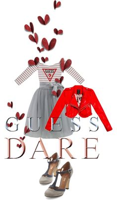 """""""Heat Up Your Valentine's Day with GUESS DARE: Contest Entry"""" by beccallop on Polyvore"""