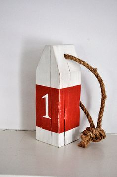 Buoy table numbers for wedding birthday by NautiDesignNantucket