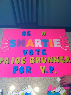 PaigeS Student Council Elections Poster Vice President  Getting