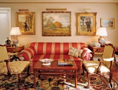 Traditional Living Room by George Clarkson in New York, New York