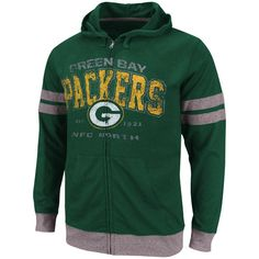 Green Bay Packers Vintage Classic II Full Zip Hooded T-Shirt - Green ® nike Green Bay Packers Nike Outfits, Sport Outfits, New England Patriots Apparel, Broncos Apparel, Pittsburgh Steelers Merchandise, Cubs Merchandise, Packers Hoodie, Hooded Sweatshirts, Hoodies