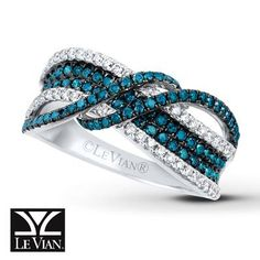 LeVian Ring 7/8 ct tw Diamonds 14K Vanilla Gold