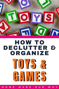 Learn how to declutter and organize various toys and games. Don't want to throw away expensive toys? Try our toy fatigue test that can save you money as well as keep your children entertained for months to come. Check out some of our recommendations for types of toys like stuffed animals and toy brands like Lego and Nerf. We also cover video consoles and those bulky game boards that can take up a lot of space and really shouldn't. #organization #declutter #toys #games #Lego #gameboards Kids Bedroom Organization, Book Organization, Game Boards, Organizing Your Home, Toy Storage, Clever Diy, Getting Organized, Stuffed Animals, Declutter