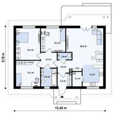 Проект одноэтажного дома в классическом стиле | DOM4M Украина