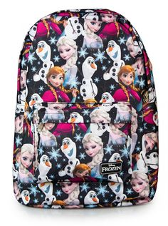 """""""Frozen+Elsa,+Anna,+&+Olaf+All+Over""""+Backpack+by+Loungefly+(Multi)"""