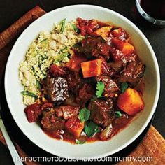 Beef Tagine with Butternut Squash – Phase 3, the fast metabolism diet phase 3 recipe, the fast metabolism diet recipes