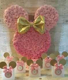 Rosa y oro Minnie Mouse party rosa y oro Minnie Mouse Party