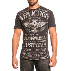 5f897c5ea7 LYNCHBURG S S CROSS TAPE TEE Affliction Clothing
