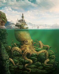 ArtStation - Kingdom of the Kraken, KyuYong Eom