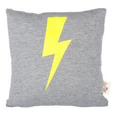 ferm living Lightning Cushion Neon - rokdoubledot