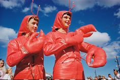 Girls at a Lobster Festival, Rockland, Maine, 1952.