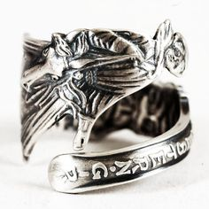 Spoon Ring Cowgirl Souvenir Sterling Silver Western Girl, Watson Spoon Ring, Handcrafted & Adjustable Ring  Size (1548) on Etsy, Sold