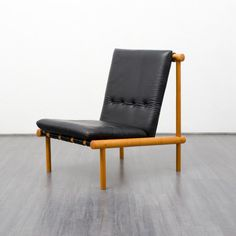 Premium 1960s Brazilian style leather lounge chairs (no. 6124) Karlsruhe Velvet-Point