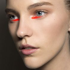 The Best Beauty Looks From New York: Spring 2015 For when you get bored of putting lipstick on your lips.  Bold Choice.
