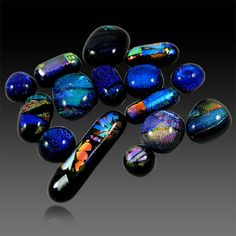 15Pcs Wholesale lot Multi Color Dichroic Glass Cabochon Jewelry Gemstone GS01025 #shining_gems #Dichroicglass #jewelrygemstone