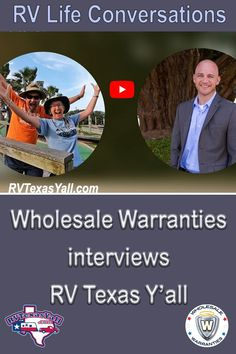 RV Life Conversations: Wholesale Warranties Interviews RV Texas Y'all | Join us for a fun conversation about RV life, full-time RVing, travel, our favorite places, and yes... BBQ! We had a great time sharing our story with Wholesale Warranties! #winginit #rvtexasyall #rvtravel #fulltimerv #faq #rvlife #wholesalewarranties