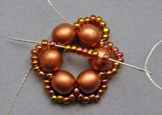 """flower tale""     Beadwoven earrings     Tutorial     © 2014 by Iulia Postică from BeadedTreasury"