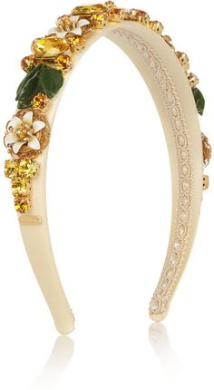 Dolce & Gabbana Swarovski crystal-embellished silk headband on shopstyle.com