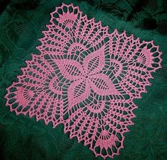 Best 10 Vintage Handmade Crochet Doily Lace Lacy Doilies Wedding Decoration Home Decor Flower Romantic French Style Crocheted Pineapple Round Pink – SkillOfKing. Crochet Motif Patterns, Crochet Mandala, Crochet Squares, Filet Crochet, Crochet Designs, Crochet Cushions, Crochet Tablecloth, Lace Doilies, Crochet Doilies