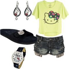 Hello!!!!!! Kitty!!!!!!!!!, created by roccgreen40 on Polyvore :)