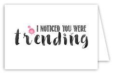 Trending Folded Notecard