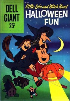 Dell Giant #36 - Comic Book Cover - My first experience with witches - Witch Hazel and her niece Itch